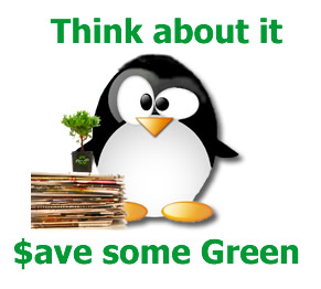 Think about it. :) Save some green and do your part.